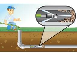 Гидродинамическая прочистка труб, устранение засоров