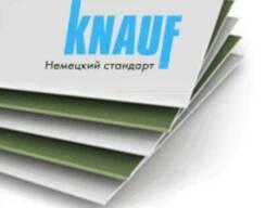 Гипсокартон влагостойкий стеновой KNAUF (ГКЛВ), 12.5*1200*25
