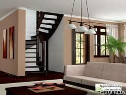 Готовые лестницы из сосны К-003м