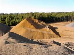 Гравий,песок,щебень,галька.