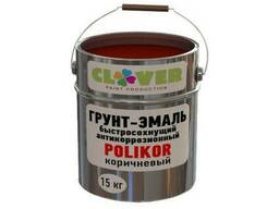 """Грунт-эмаль 3 в 1 """"Polikor"""" антикоррозийный быстросохнущий"""
