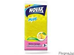 Губки кухонные ароматизированные 3шт NV Plus (Материал: Пенополиуретан + фибра. Цвет:. ..