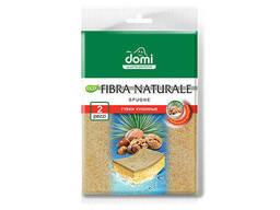 Губки кухонные натур. фибра 2 шт DOMI (Состав: поролон-бежевый, фибра- натуральная. .. .