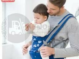 Хипсит-кенгуру Aiebao 3в1, рюкзак-кенгуру для переноски малыша от 0 месяцев Синий
