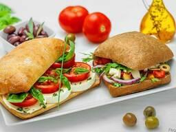 Хлеб ржаной, хлеб пшеничный, чиабатты, багеты замороженные