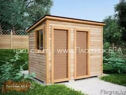Хозблок (бытовка) 2в1 3х2 туалет душевая