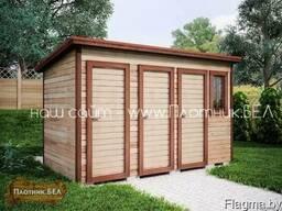 Хозблок (бытовка) 3в1 4х2 туалет душевая хозблок