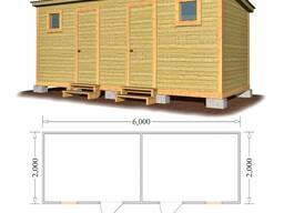 Хозблок для дачи 6х2 метра с окнами