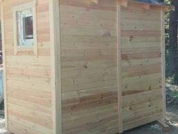 Хозяйственный блок деревянный