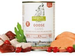 Isegrim Adult Prairie Goose - консервы для собак со свежим мясом гуся, бататом, плодами. ..