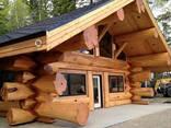 Изготовление домов бань из бревна оцилиндрованного и рубленн - фото 6