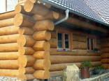 Изготовление домов бань из бревна оцилиндрованного и рубленн - фото 7