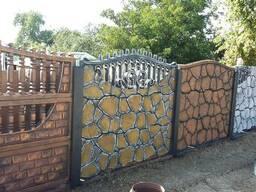Изготовление и покраска бетонного забора
