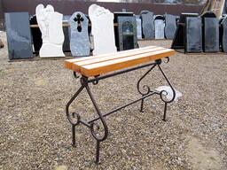 Изготовление и установка столика лавочки на могулу - фото 3