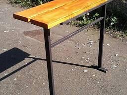 Изготовление и установка столика лавочки на могулу - фото 4