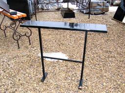 Изготовление и установка столика лавочки на могулу - фото 7