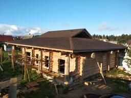 Сруб дома 9 на 12 канадский угол, диаметр бревна 34-46
