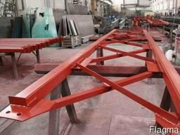 Изготовление строительных металлоконструкций.