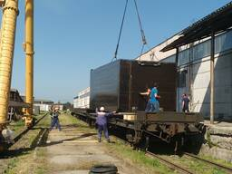 Выгрузка/погрузка контейнеров 20 и 40 футов с ж. д. платформ.