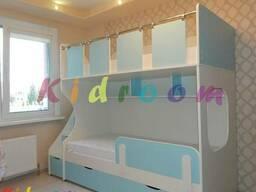 Качественная детская двухъярусная кровать с бортиком Минск