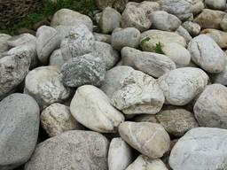 Камень для ландшафта. Валун Белый кварц