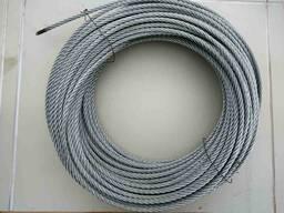 Канат (трос) оцинкованный 8. 3 мм для строительной люльки ZLP