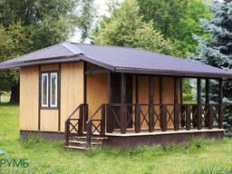 Каркасно-щитовой деревянный домик