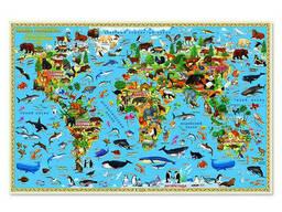 Карта Мира настольная. Наша планета. Животный и...