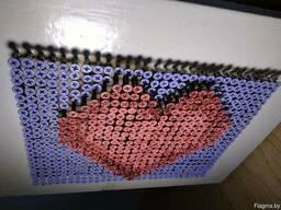 Картина из шурупов Сердце. Screw Art картина. Крепёж 3D art