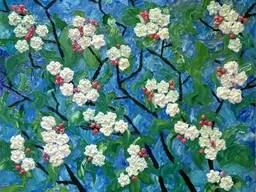 "Картина ""Яблоня в цвету"""
