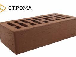 Кирпич керамический пустотелый одинарный Коричневый Рустик 1