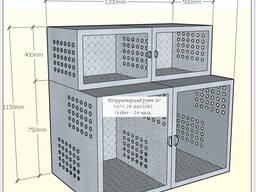 Клетка ветеринарная для животных из нерж стали
