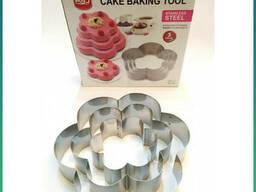 Кольца для торта из нержавеющей стали Cake Baking Tool (3 шт) Цветок