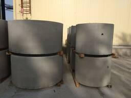 Кольца колодцев(канализация), плита перекрытия(крышка), плита низа(днище)