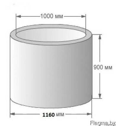 Кольцо колодца стеновое КС 10-9 канализационное