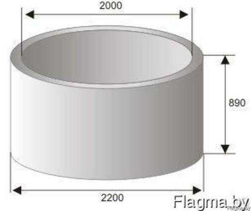 Кольцо колодца стеновое КС 20-9 канализационное