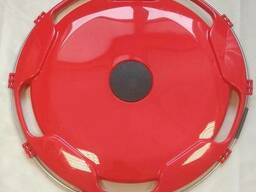 Колпак на диск колеса R-22,5 задний пластиковый цвет красный на Грузовые АВТО