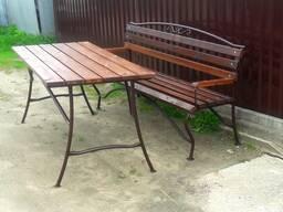 Садовая мебель стол и скамейка длина 1,6 м.