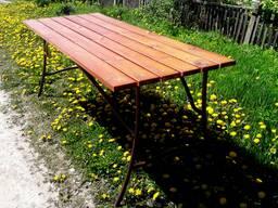 Стол для беседки. Размеры от 1.5х0.75 м до 2х0.75м.