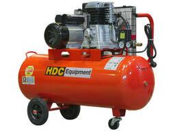 Компрессор HDC HD-A101 (396 л/мин, 10 атм, ременной, масляны