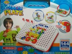 Конcтруктор Magic Plate Puzzle с шуруповертом 190 деталей 9022