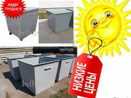 Контейнер мусорный металлический 0,75м3 с крышкой