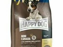 Корм Happy Dog Mini Canada - корм для собак мелких пород с лососем и кроликом