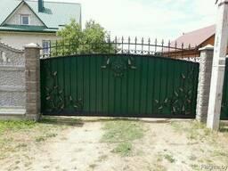 Кованые откатные ворота для дома