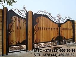 Кованые ворота, лестница, козырек, решетка, перила, навес