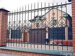 Кованые заборы и ворота - фото 2