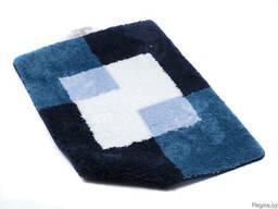 """Коврик для ванной текстильный синий """"Coins"""" 60*90 см"""