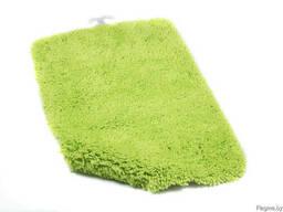 """Коврик для ванной текстильный зеленый """"Softy"""" 50*75 см"""