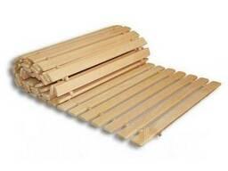 Коврик-лежак 1м К-1 деревянный для бани