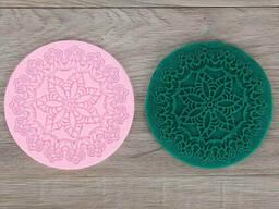 """Коврик силиконовый для айсинга """"Цветы"""" Ø 12,5 см"""
